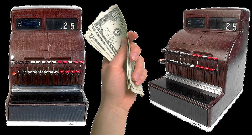 bankovky a pokladny