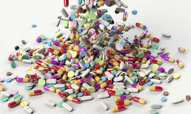 padající tablety